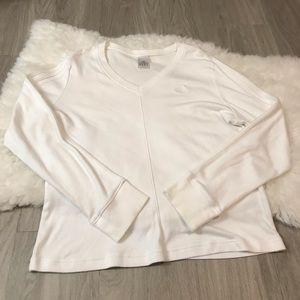 Adidas Long Sleeve Stripes Logo Shirt Size XL